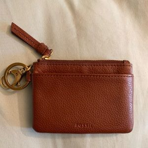 Fossil leather zipper coin